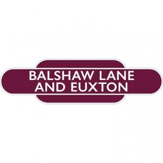 Balshaw Lane And Euxton