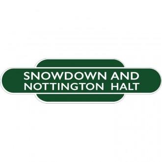Snowdown And Nottington Halt